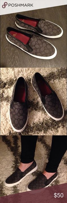 NWT Black Chrissy Coach Slide On Shoes Size 8 So cute. Not my size. Coach Shoes Flats & Loafers