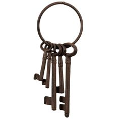 Cast Iron Keys on Loop - Give your garden a charming rustic look with this decorative feature - Part of the our cast iron range of garden ornaments