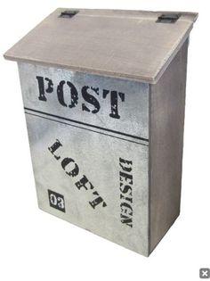 Houten brievenbus Loft