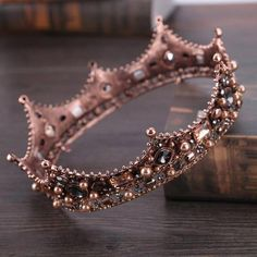 Baroque Fashion Vintage Big Round Crowns for Women Men Hair Jewelry Bridal Pageant Tiara Wedding Hair Accessories Free Weeks DeliveryShips Worldwide Crown Aesthetic, Rose Gold Aesthetic, Queen Aesthetic, Crystal Crown, Crystal Rhinestone, Black Rhinestone, Clear Crystal, Rhinestone Wedding, Crystal Wedding