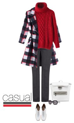"""""""Casual outfit: Gray - Red - White"""" by downtownblues ❤ liked on Polyvore featuring Mode, MANGO und Shellys"""
