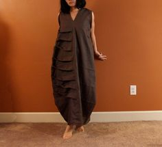 ready to ship. chocolate linen spiral от annyschooecoclothing