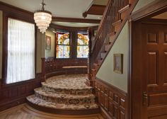 Staircase Stained Glass Door Design, Pictures, Remodel, Decor and Ideas