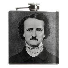 Edgar Allen Poe Flask