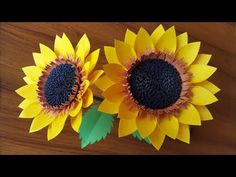 Today I am sharing a beautiful paper sunflower making tutorial step by step. I will show in the video how to make a paper flower (sunflower) easy way. How To Make Sunflower, How To Make Paper Flowers, Giant Paper Flowers, Paper Flower Backdrop, Rose Tutorial, Paper Flower Tutorial, Diy Paper, Paper Crafts, Paper Art