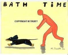 Resultado de imagen para dachshund bath