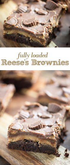 Loaded Reese's Brownies