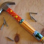 Dia del Padre ideas para regalar. Father's Day gift idea. Painted hammer handle