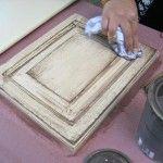 How to glaze a cabinet door