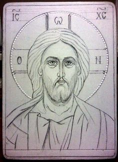 Christ, the Truth, the Way, and the Life. Byzantine Icons, Byzantine Art, Religious Icons, Religious Art, Jesus Drawings, Greek Icons, Paint Icon, Cartoon Sketches, Catholic Art