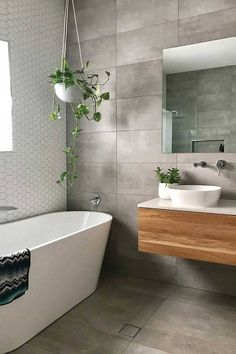 How to keep your bathroom renovation cost under 10 000 Home Beautiful Magazine Australia # Bathroom Renovation Cost, Budget Bathroom, Home Renovation, Bathroom Remodeling, Bathroom Ideas, Bathroom Cost, Bathroom Makeovers, Bathroom Faucets, Large Tile Bathroom