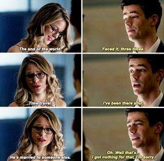 The Flash and Supergirl Barry Allen Kara Danvers Grant Gustin Melissa Benoist