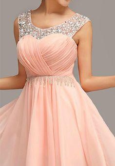 Sweet Elegant Pink Rhinestone Fringe Party Dress