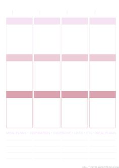 Free printable page layout (Erin Condren inspired) – Beautify 101 Free Planner, Planner Template, Planner Pages, Printable Planner, Planner Stickers, Happy Planner, Free Printables, Planner Inserts, Planner Ideas
