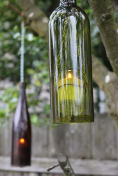Wine Bottle Lanterns - DIY instructions