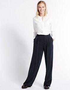 Striped Wide Leg Trousers | M&S