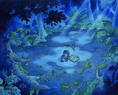 Watercolor painting of Stitch lost.From Disney's Lilo & x I'm Lost Disney Love, Disney Art, Lilo And Stitch 2002, Pearl Steven Universe, Watercolor Disney, Disney Animated Movies, Im Lost, Disney Animation, Disney Wallpaper
