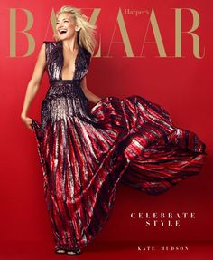 Kate Hudson on Harper's Bazaar cover - December 2013