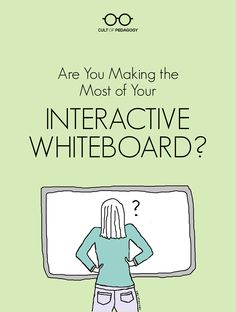 """Are You Making the Most of Your Interactive Whiteboard? """"Interactive whiteboards are a fixture in many classrooms, but are teachers taking advantage of all they have to offer? Here are some ways to improve your use. Smart Board Activities, Smart Board Lessons, Teaching Technology, Educational Technology, Technology Integration, Technology Tools, Technology Management, Assistive Technology, Technology Design"""