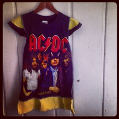 Upcycled Rock Tee Dress AC/DC