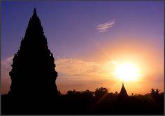Prambanan Silhouette - Yogyakarta, Yogyakarta