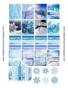 FREE CDB Planner Prints: Winter Wonderland