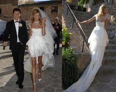 Anja Rubik's Mullet Wedding Dress Style