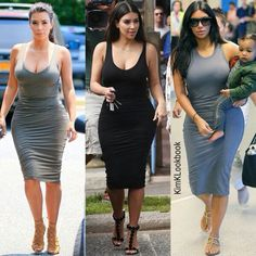 Kim kardashian james perse dress looks