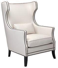 White Eddie Accent Chair