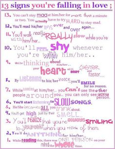 13 signs u r following in love...so true & accurate with my first TRUE love :)