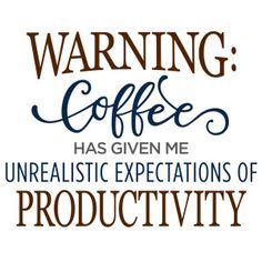 Silhouette Design Store - View Design #121979: warning: coffee phrase
