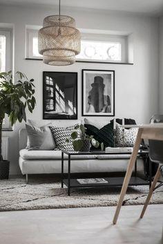13 astuces déco pour créer un salon scandinave chez vous - Living Room Modern, Home And Living, Living Room Decor, Bedroom Decor, Kitchen Living, Decoration Inspiration, Inspiration Design, Decor Ideas, Wall Ideas