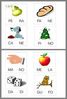 Puzzle parole Kids Learning Activities, Preschool Worksheets, Italian Words, Italian Language, Learning Italian, Learning Disabilities, School Hacks, Pre School, Kids And Parenting