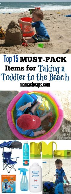 Top 15 MUST-PACK Items for Taking a Toddler to the Beach - heading to the beach with a toddler?  This is a MUST-READ!