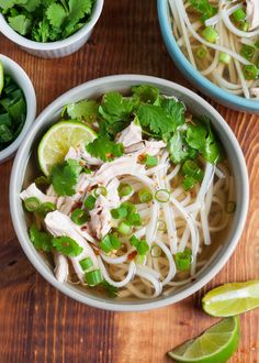 Chicken Pho! 30-minutes EASY shortcut version of traditional Vietnamese noodle soup. made with strong beef broth, and thinly cut beef, was awesome!