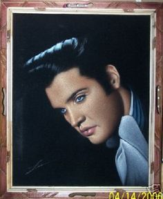 For the record, I wanted a velvet Elvis painting decades ago, long before they acquired any kitschy nostalgia value. Cute Thigh Tattoos, Elvis Tattoo, Velvet Elvis, Kitsch Art, Velvet Painting, 70s Glam, Spiritual Songs, Portrait Art, Portraits
