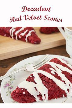 Scones are the perfect addition to any Mother's Day brunch. Red velvet scones take that up a notch further. Duncan Hines, Mothers Day Brunch, Dessert Recipes, Desserts, Baking Ideas, Cookie Bars, Scones, Red Velvet, Tea Time