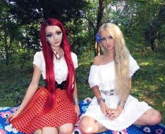 Anastasiya Shpagina y Valeria Lukyanova. Foto: Facebook Anastasiya Shpagina