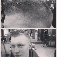 Mens faded haircut