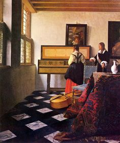 The music lesson - Vermeer