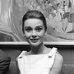 The actress Audrey Hepburn photographed at the Hotel Hassler, located at Piazza Trinità dei Monti, in Rome (Italy), on January 06, 1960. Audrey was wearing: • Cocktail dress: Givenchy (of grosgrain in...