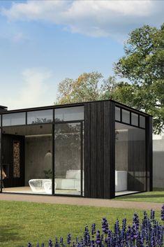 Garden Lodge, Backyard Pool Landscaping, Modern Patio, Garden Office, Pergola Designs, Facade Architecture, New Home Designs, Diy Patio, Outdoor Rooms