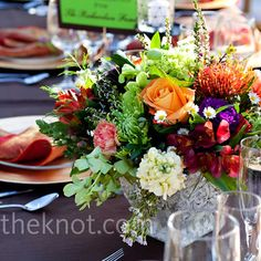 Low Colorful Centerpieces
