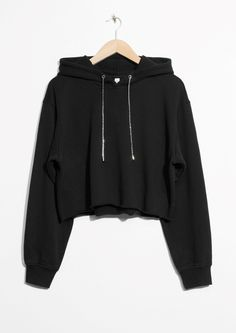 & Other Stories image 1 of Cropped Hoodie in Black