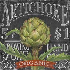 Chalk Veggie Artichoke (Geoff Allen)