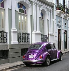 Purple love bug- I of my favorite things; purple and VW beetle. Purple Love, All Things Purple, Shades Of Purple, Deep Purple, Pink Purple, Purple Cars, Purple Punch, Dream Cars, My Dream Car