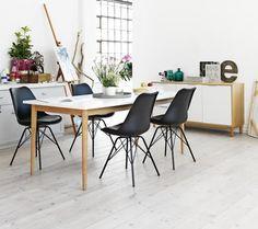 Dining table RISSKOV L180cm oak/white