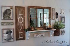 After some work in my living room I had to relocate a gallery wall I had worked so hard to get right. I was moving it to a smaller space so that required paring… Fall Home Decor, Autumn Home, Globe Decor, Inspiration Wall, Coastal Decor, Photo Wall, Gallery Wall, Wall Decor, Rustic