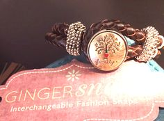 This leather bracelet from GingerSnaps Jewelry with the family tree snap is sure to be go-to jewelry piece!  $21.90