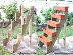 DIY Simple Vertical Planter Structure  https://www.facebook.com/icreativeideas